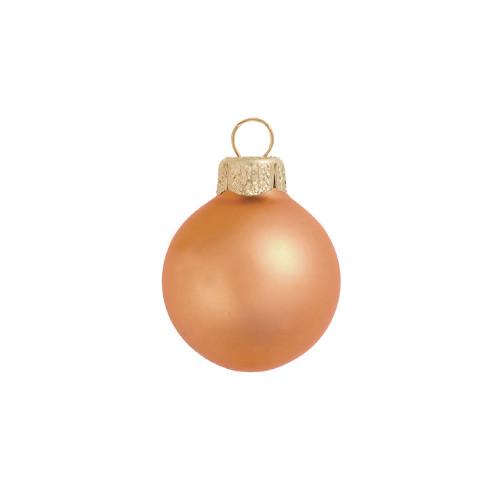 "8ct Matte Mandarin Orange Glass Ball Christmas Ornament 3.75"" (80mm) - IMAGE 1"