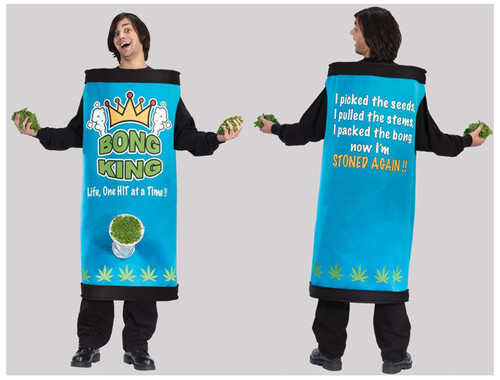 Blue and Black Bong King Adult Men's Halloween Costume - One Size - IMAGE 1