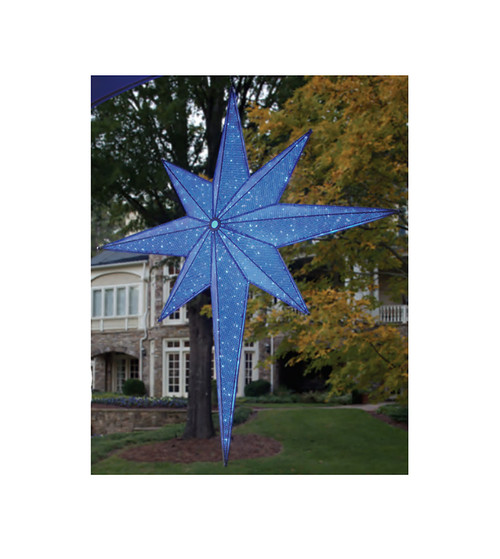 "72"" LED Lighted Blue and Silver Moravian Star Commercial Hanging Christmas Light Decoration - IMAGE 1"