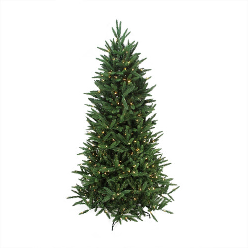 7.5' Pre-Lit Mixed Pine Multi-Function Remote Control Artificial Christmas Tree - Multi Color Lights - IMAGE 1