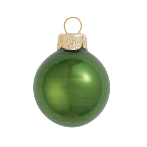 "Pearl Green Moss Glass Ball Christmas Ornament 7"" (180mm) - IMAGE 1"