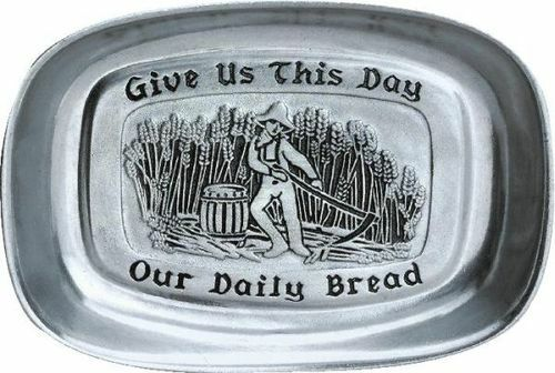 """Pack of 2 Classic Statesmetal Lord's Prayer Bread Serving Trays 9.25"""" - IMAGE 1"""
