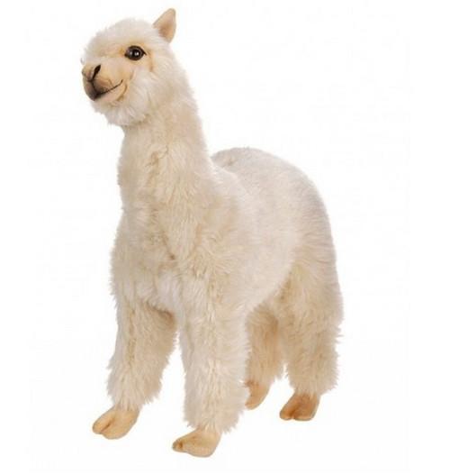 "Set of 2 White Handcrafted Soft Plush Alpaca Stuffed Animals 13.75"" - IMAGE 1"