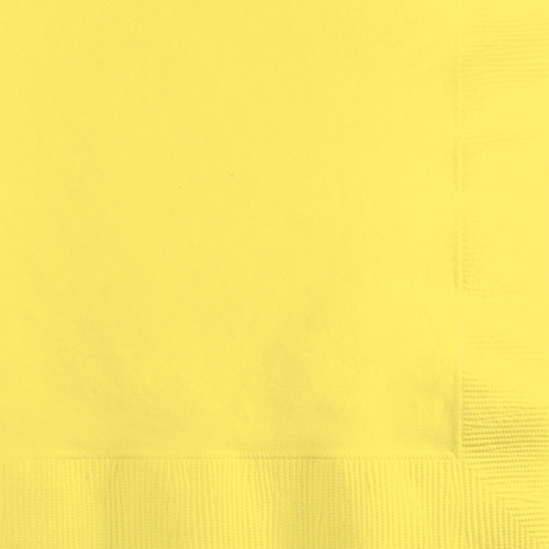 """Club Pack of 600 Premium 2-Ply Mimosa Yellow Disposable Beverage Napkins 4.5"""" - IMAGE 1"""