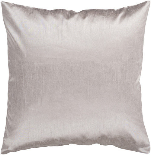 "22"" Gray Contemporary Solid Square Throw Pillow - IMAGE 1"