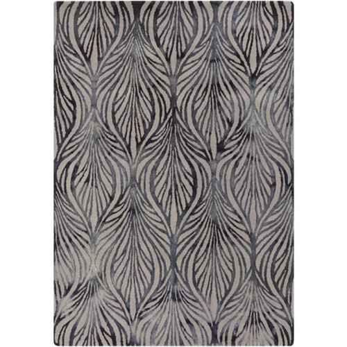 9' x 13' Blue and Gray Contemporary Hand Tufted Area Throw Rug - IMAGE 1