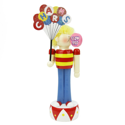 """11"""" Red and Yellow Charms Blow Pop Boy Tabletop Christmas Figurine - IMAGE 1"""
