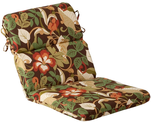 Outdoor Patio Furniture High Back Chair Cushion - Floral Cafe - IMAGE 1