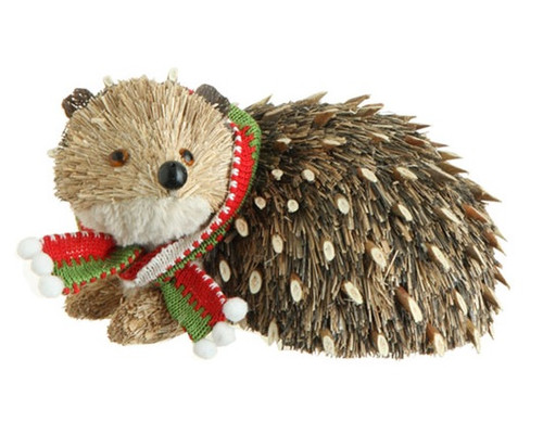 "8.5"" Beige and Brown Hedgehog Christmas Tabletop Decor - IMAGE 1"
