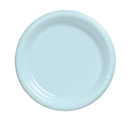 """Club Pack of 240 Pastel Baby Blue Premium Disposable Plastic Party Banquet DInner Plates 10"""" - IMAGE 1"""