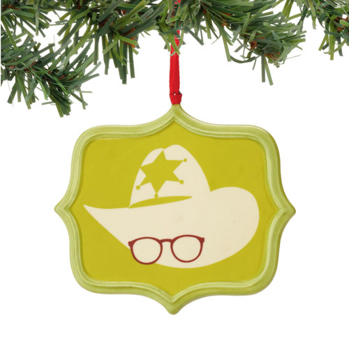 "3.75"" Yellow and White Story Air Rifle Sentiment Christmas Ornament - IMAGE 1"