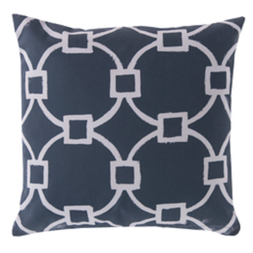"""20"""" Navy Blue and Beige Nautica Encounter Square Throw Pillow Cover - IMAGE 1"""