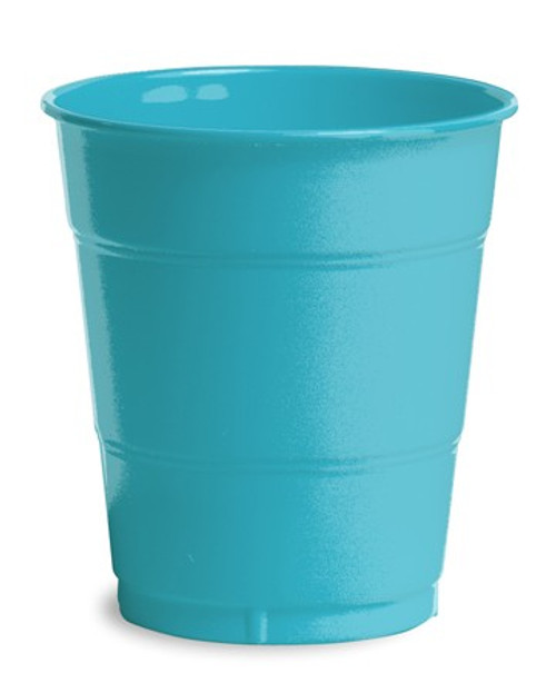Club Pack of 240 Bermuda Blue Disposable Drinking Party Tumbler Cups 12 oz. - IMAGE 1