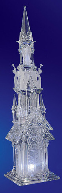 """Set of 2 Clear Religious Four Angel Cathederal Figurines 19"""" - IMAGE 1"""