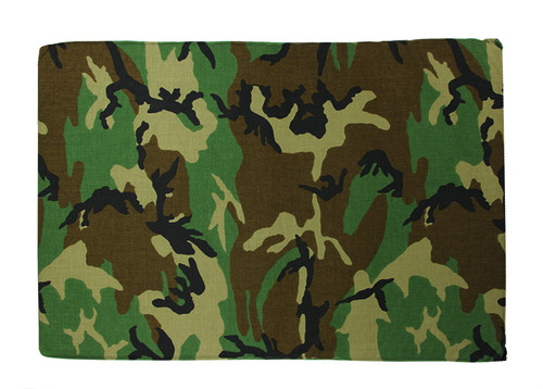Camouflage Printed Deluxe Square Pet Dog Bed - Medium - IMAGE 1