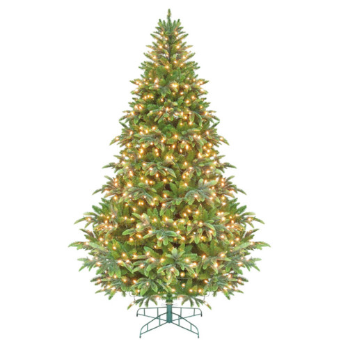 7.5' Pre-Lit Instant Power Cascade IPT Artificial Christmas Tree - Clear Lights - IMAGE 1
