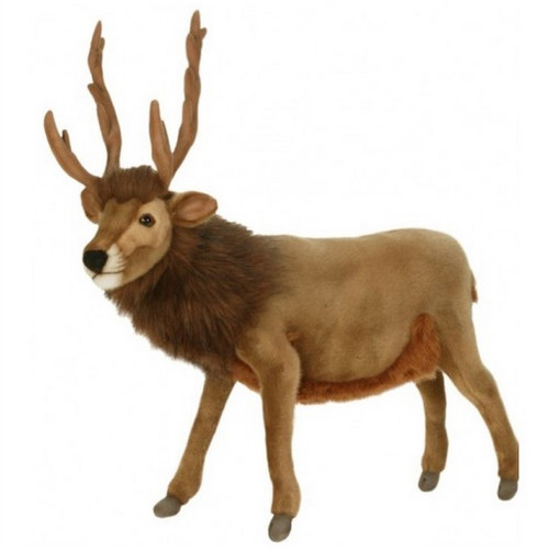 """Set of 2 Brown Handcrafted Soft Plush Reindeer Stuffed Animals 20.25"""" - IMAGE 1"""