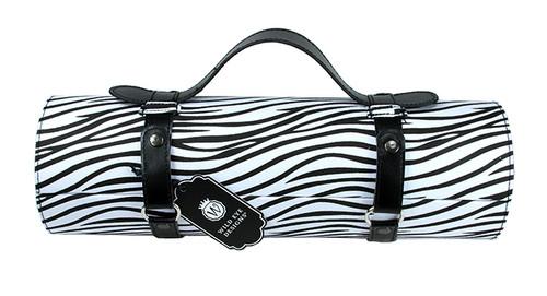 "13.25"" Black and White Zebra Print Wine Bottle Carrier Purse - IMAGE 1"