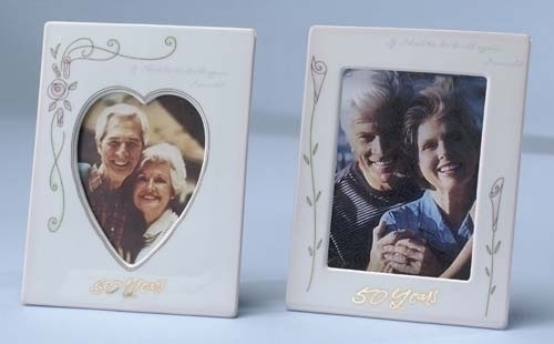 """Club Pack of 24 White 25th Silver Wedding Anniversary Photo Picture Frames 8"""" - IMAGE 1"""