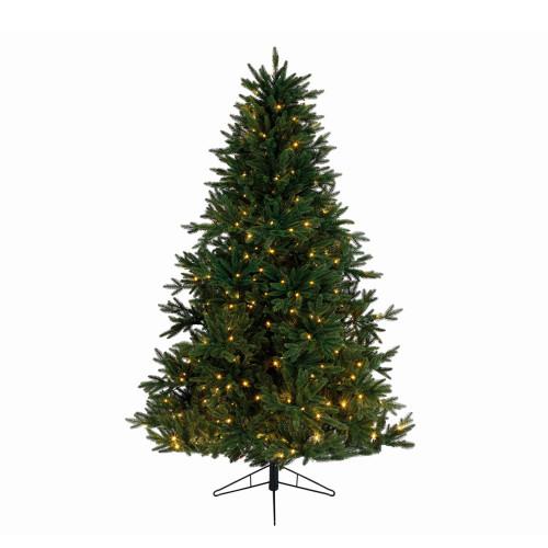 9' Pre-Lit Full Everlands Skandia Fir Artificial Christmas Tree - Warm Clear LED Lights - IMAGE 1