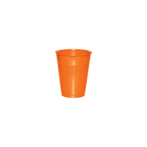 Club Pack of 240 Sunkissed Orange Disposable Drinking Party Cups 16 oz. - IMAGE 1