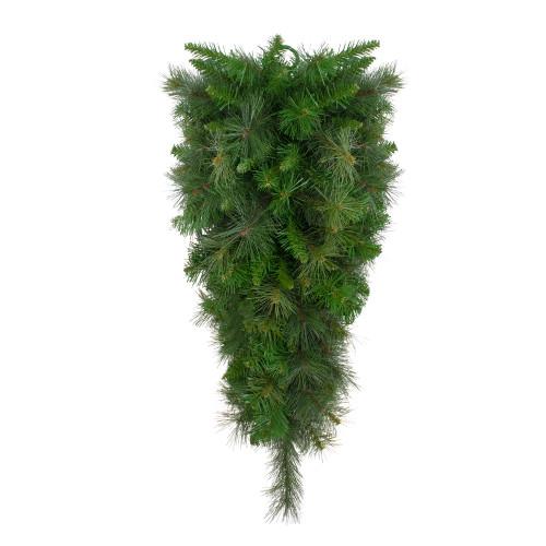 "32"" Canyon Pine Artificial Christmas Teardrop Swag - Unlit - IMAGE 1"