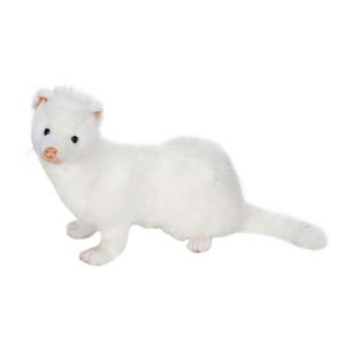 """Pack of 3 White Handcrafted Plush Ferret Stuffed Animals 12.5"""" - IMAGE 1"""