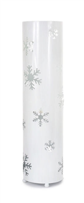 "24"" Elegant Winter White Christmas Snowflake Standing Floor Candle Lantern - IMAGE 1"