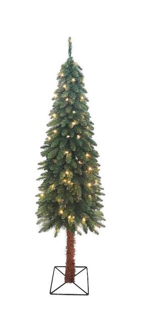 6' Pre-Lit Medium Two-Tone Alpine Artificial Christmas Tree - Clear Lights - IMAGE 1