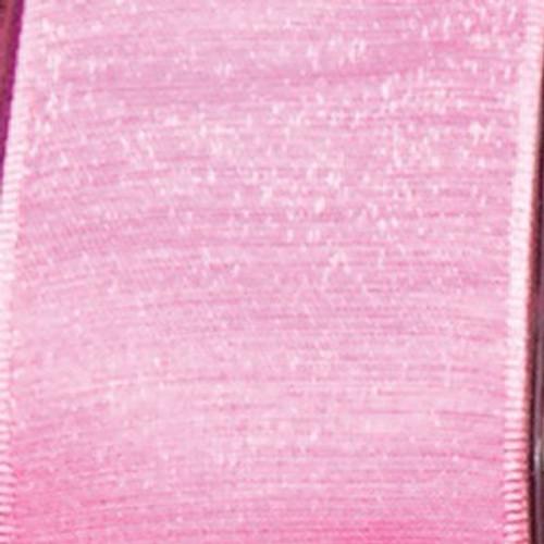 "Pink Solid Taffeta Wired Craft Ribbon 1.5"" x 54 yards - IMAGE 1"