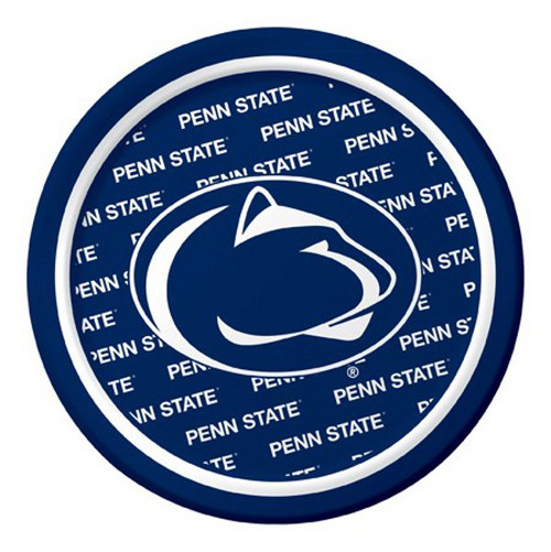 """Club Pack of 96 Blue NCAA Penn State Nittany Lions Disposable Party Luncheon Plates 7"""" - IMAGE 1"""