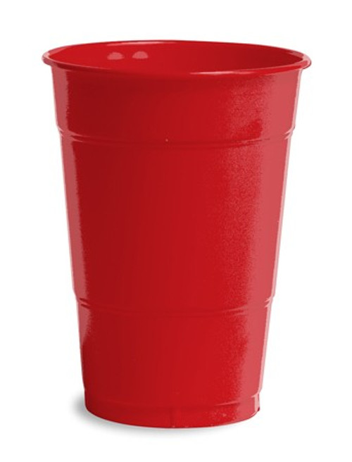Club Pack of 600 Classic Red Disposable Round Drinking Party Tumbler Cups 16 oz. - IMAGE 1