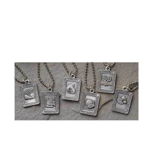 """Club Pack of 24 Christian Sports Medal Pendants - 26"""" Chains #15164 - IMAGE 1"""