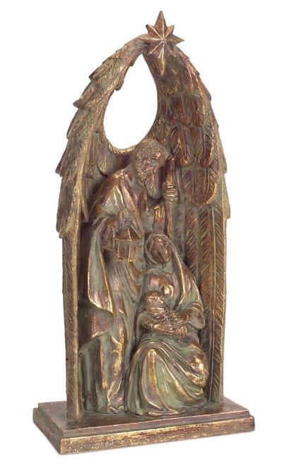 "15"" Brown Holy Family Nativity Scene Christmas Tabletop Figurine - IMAGE 1"