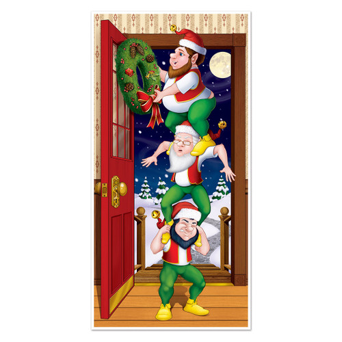 Club Pack of 12 Winter Wonderland Themed Christmas Elves Door Cover Party Decorations 5' - IMAGE 1