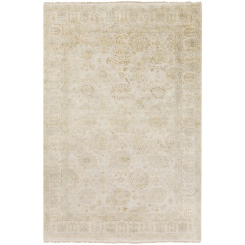 5.5' x 8.5' Venetian Gray and Brown Hand Knotted Wool Area Throw Rug - IMAGE 1