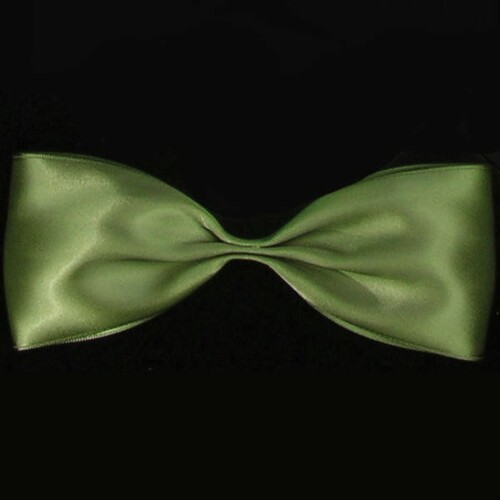 """Olive Green Double Face Craft Ribbon 1"""" x 108 Yards - IMAGE 1"""
