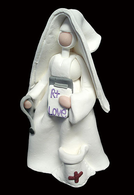 Set of 4 Claydough Catholic Nun Nurse Figurines Thank You Gifts #46383 - IMAGE 1