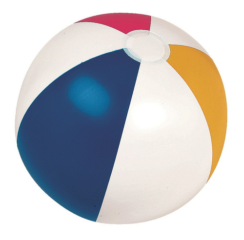 """16"""" Inflatable Subtle Colored 6-Panel Swimming Pool and Beach Ball - IMAGE 1"""