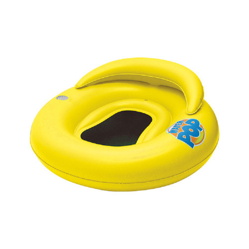 """50"""" Inflatable Yellow Water Pop Floating Lounger with Black Mesh Seat - IMAGE 1"""