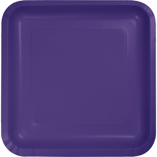 """Pack of 180 Purple Premium Square Paper Party Dinner Plates 9"""" - IMAGE 1"""