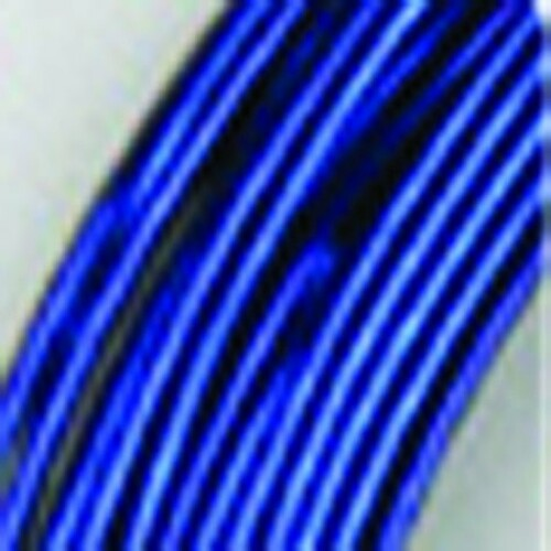 1mm Shimmering Navy Blue Designer Aluminum Wire- Approximately 255 Yards - IMAGE 1