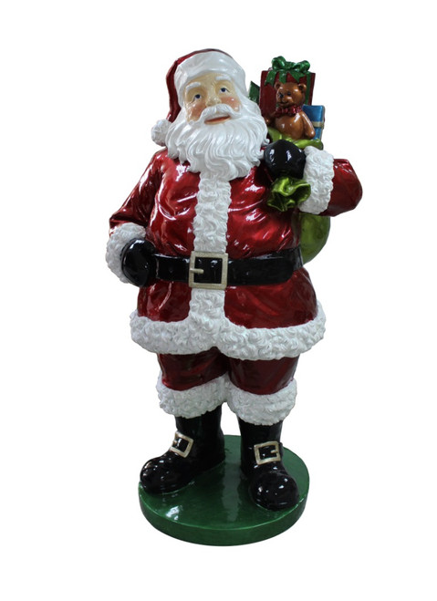 """63"""" Red and White Santa Claus with Presents Christmas Decor - IMAGE 1"""