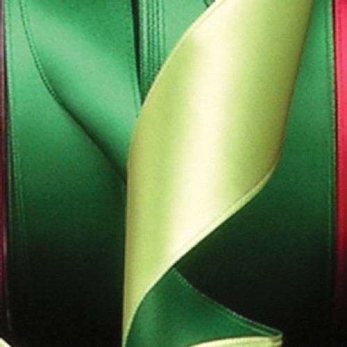 "Emerald Green Two-Tone Double Face Wired Craft Ribbon 1.5"" x 27 Yards - IMAGE 1"