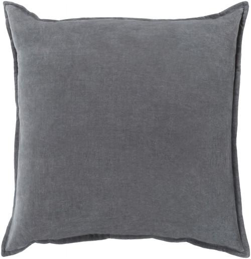 "20"" Calma Semplicita Charcoal Gray Decorative Square Throw Pillow - IMAGE 1"