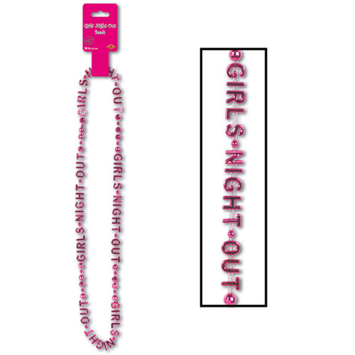 """Pack of 12 Pink Girls Night Out Beaded Necklaces 36"""" - IMAGE 1"""