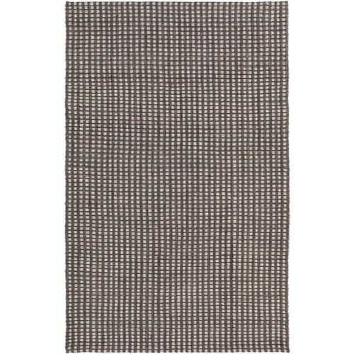 8' x 10' Dove Gray and Beige Hand Woven Rectangular Wool Area Throw Rug - IMAGE 1