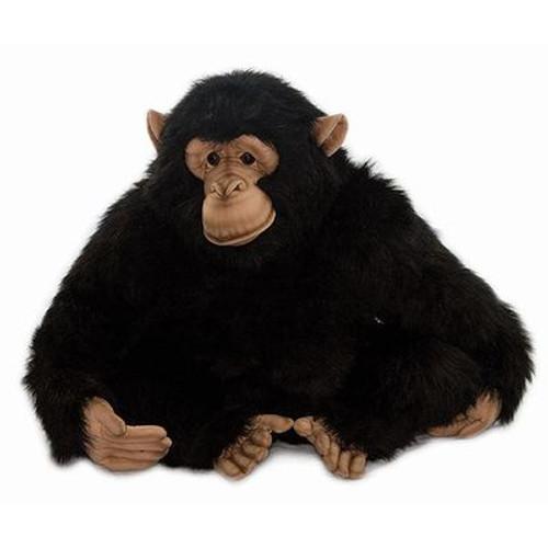 """Set of 2 Lifelike Handcrafted Extra Soft Plush Adult Chimp Monkey Stuffed Animals 18"""" - IMAGE 1"""