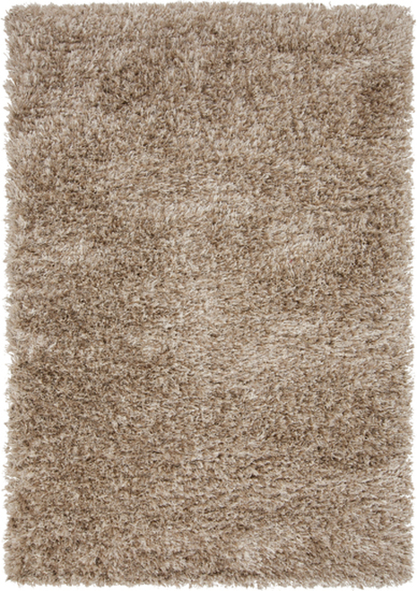 8' x 10' Beige and Tan Brown Hand Tufted Rectangular Area Throw Rug - IMAGE 1