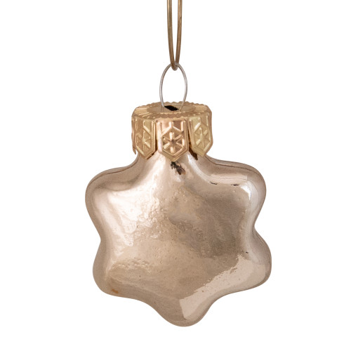 """56ct Shiny Gold Glass Star Christmas Ornaments 1.75"""" (45mm) - IMAGE 1"""
